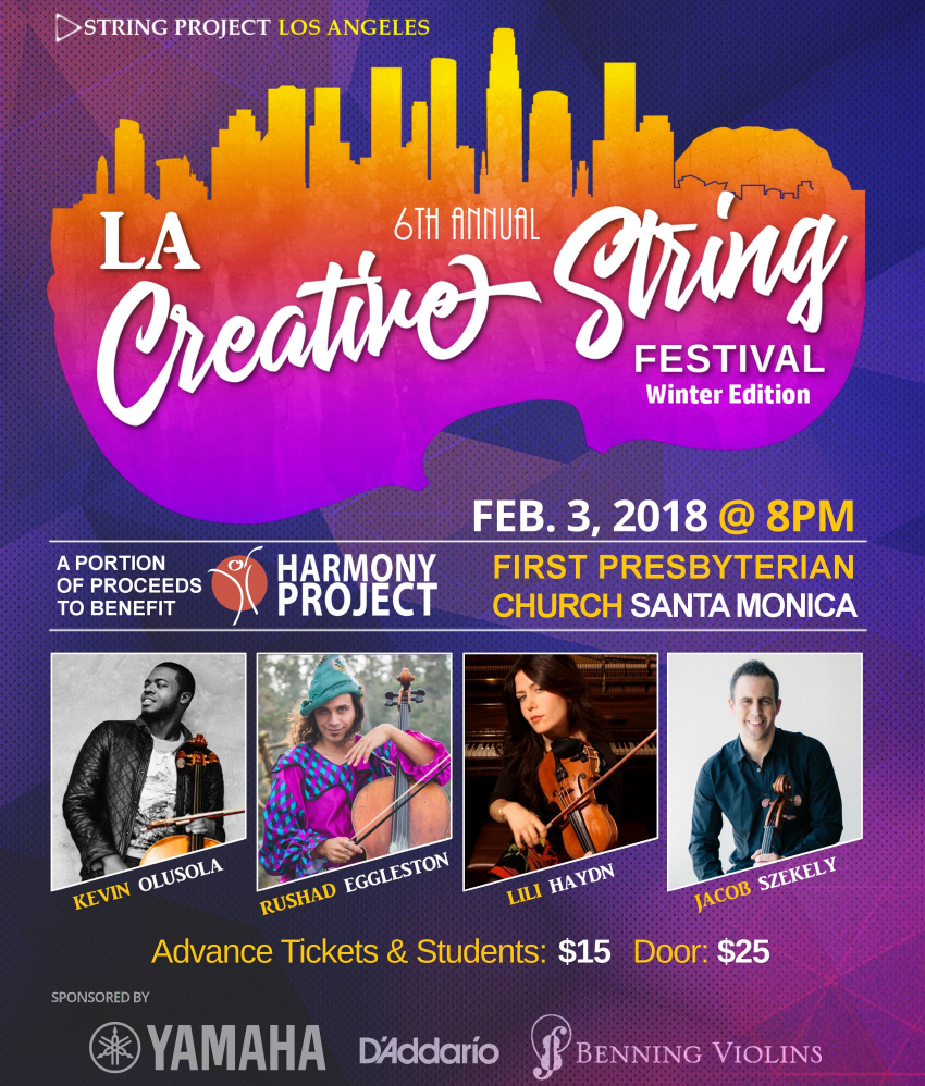 Creative String Festival Winter, Feb 3., 2018